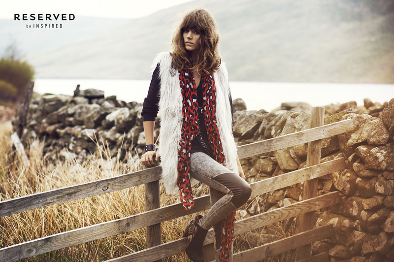 reserved fall ads6 Freja Beha Erichsen Exudes Cool for Reserveds Fall 2013 Ads