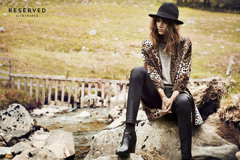 reserved fall ads7 Freja Beha Erichsen Exudes Cool for Reserveds Fall 2013 Ads