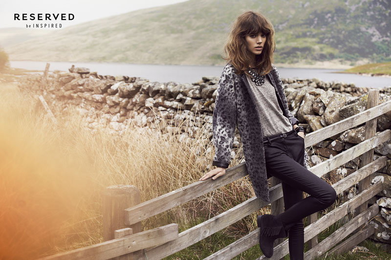 reserved fall ads8 Freja Beha Erichsen Exudes Cool for Reserveds Fall 2013 Ads