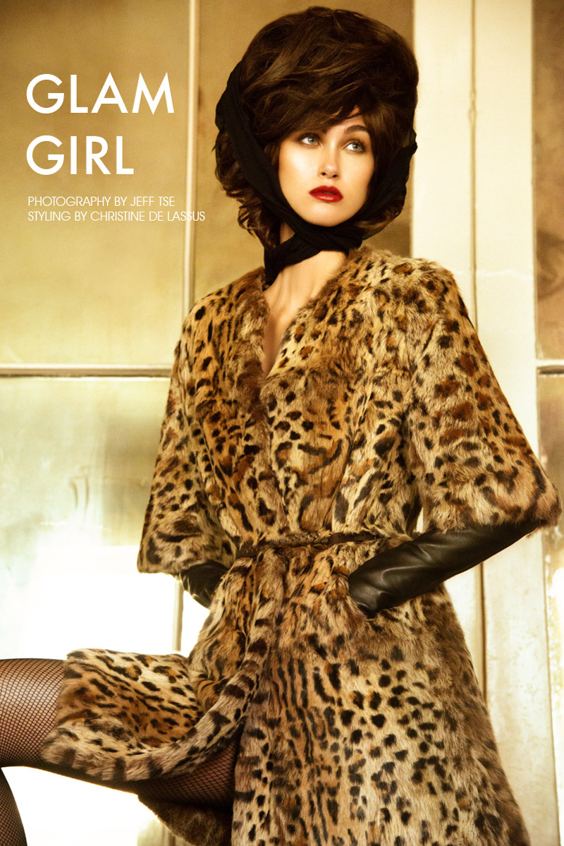 retro glamour Sarah English by Jeff Tse in Glam Girl for Fashion Gone Rogue
