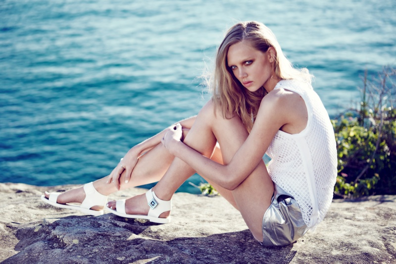 Holly Rose Models for RMK Shoes' Spring 2013 Campaign