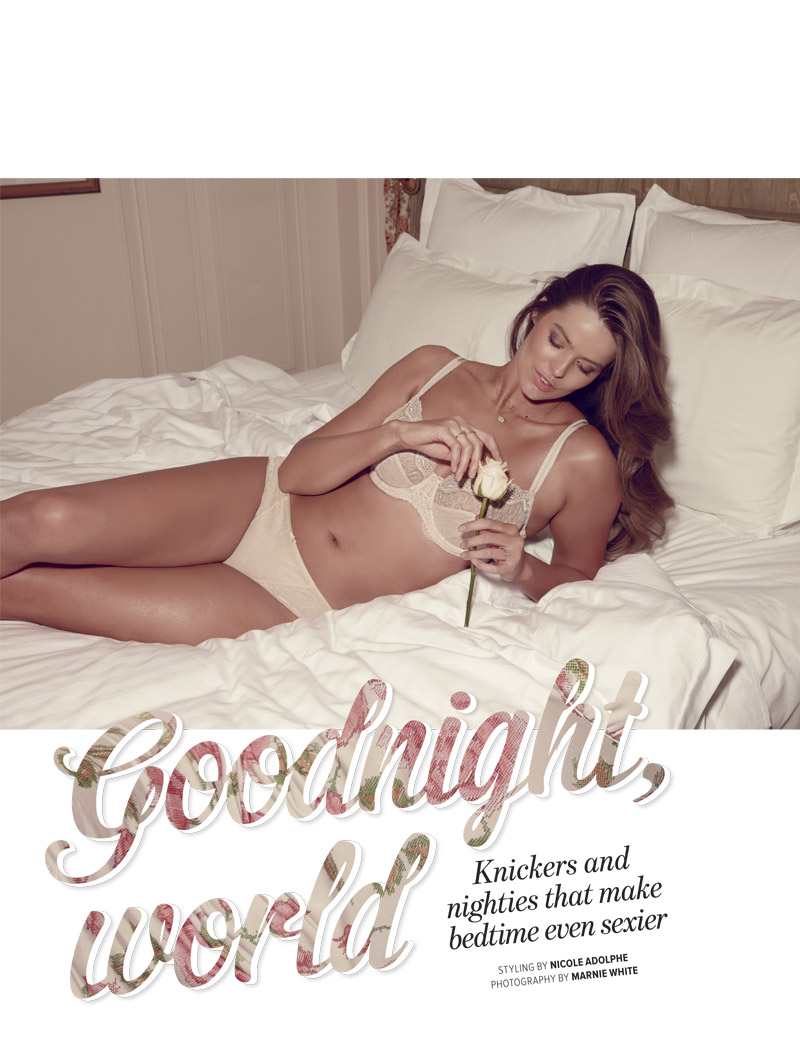 robyn lawley lingerie1 Lingerie Clad Robyn Lawley Stars in Cosmopolitan Australias October Issue