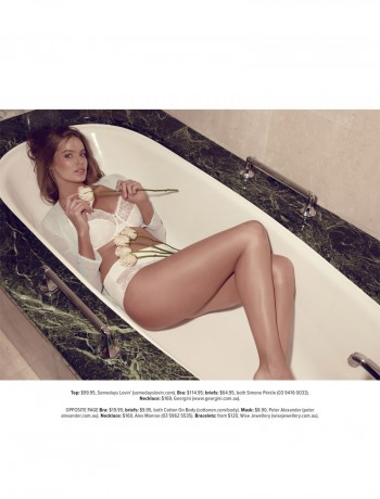 Lingerie Clad Robyn Lawley Stars in Cosmopolitan Australia's October Issue