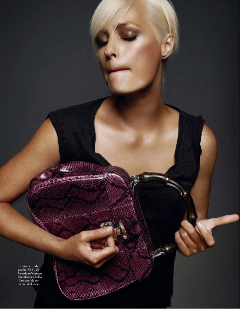rock xavi gordo1 Yasmin le Bon Poses for Xavi Gordo in Elle Spain October 2013