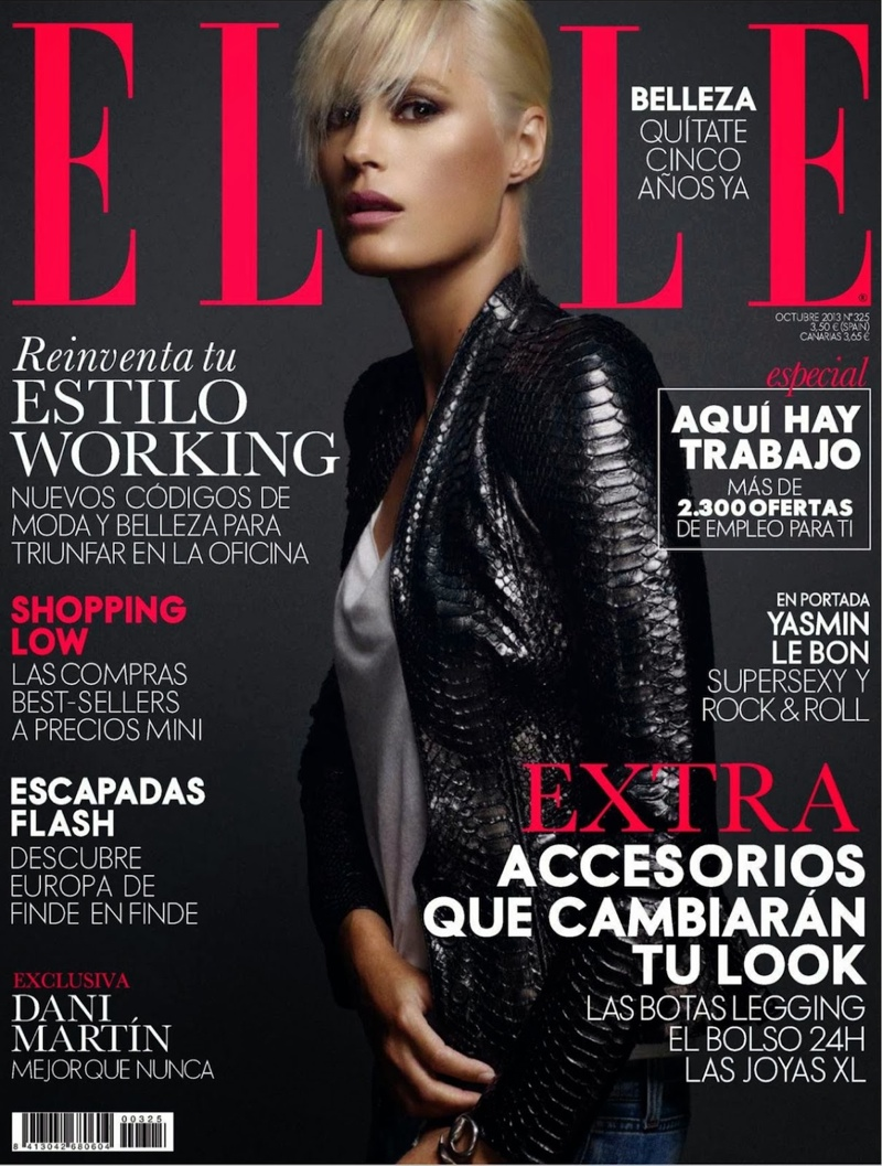 rock xavi gordo11 Yasmin le Bon Poses for Xavi Gordo in Elle Spain October 2013