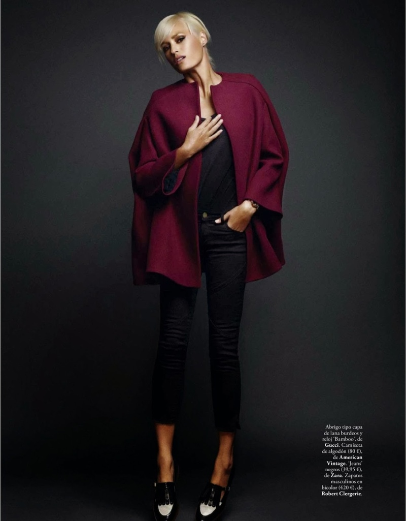 rock xavi gordo9 Yasmin le Bon Poses for Xavi Gordo in Elle Spain October 2013