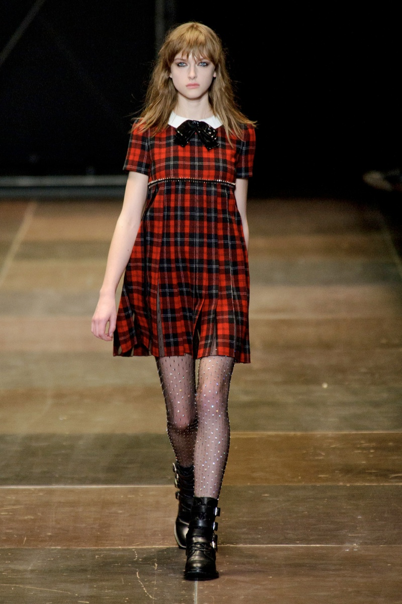 saint laurent plaid look 6 Plaid Looks Inspired by Fall Runway Style