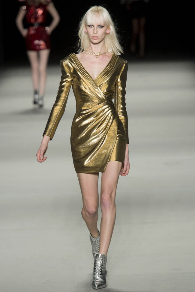 saint laurent spring 2014 36 Paris Fashion Week Spring/Summer 2014 Day 7 Recap | Elie Saab, Saint Laurent, Stella McCartney + More