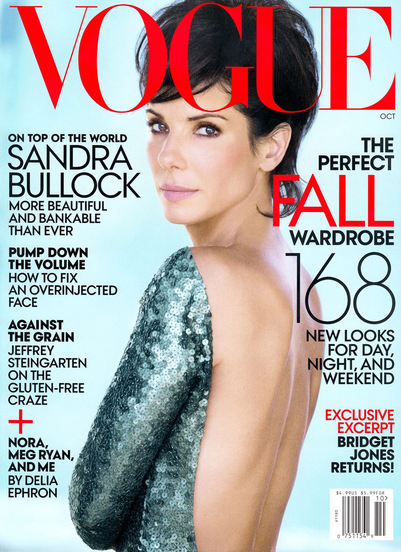 sandra bullock vogue cover Sandra Bullock Lands Fifth Vogue Cover for October 2013 Issue