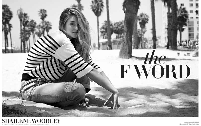 shailene woodley1 Shailene Woodley Goes Beachside for Flaunt Shoot by Eric Guillemain