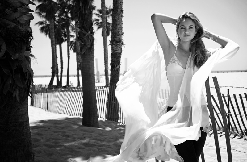 shailene woodley81 Shailene Woodley Goes Beachside for Flaunt Shoot by Eric Guillemain