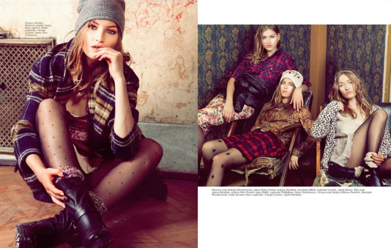 Simona Andrejic Wears Rebellious Style In Elle Serbia October 2013