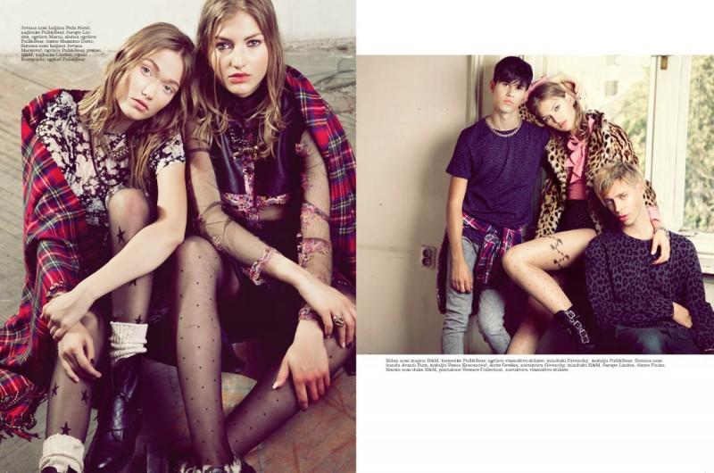 simona andrejic elle5 800x530 Simona Andrejic Wears Rebellious Style In Elle Serbia October 2013