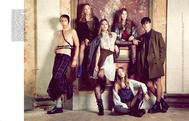 simona andrejic elle6 800x512 Simona Andrejic Wears Rebellious Style In Elle Serbia October 2013