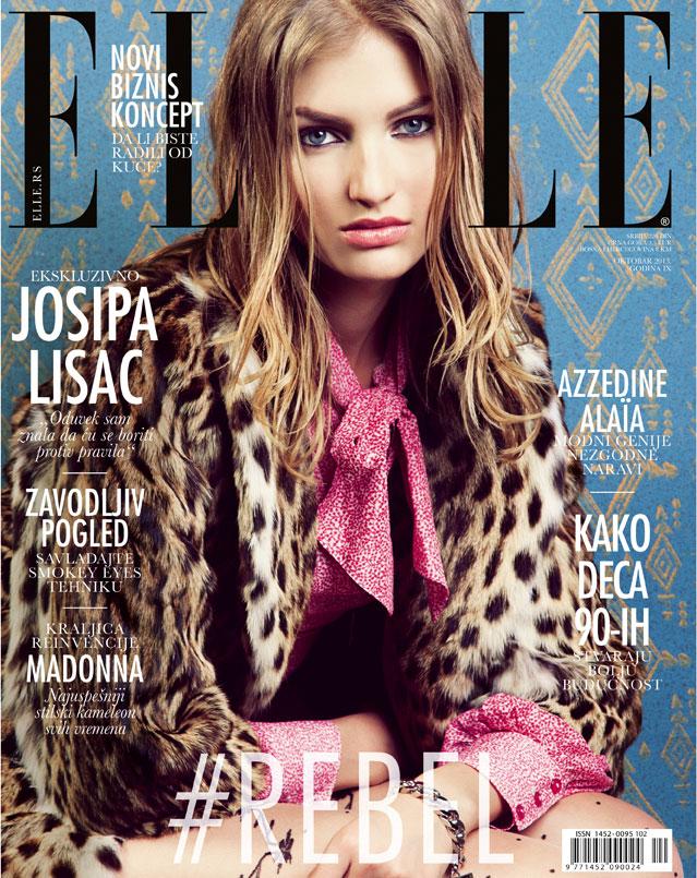 simona andrejic elle7 Simona Andrejic Wears Rebellious Style In Elle Serbia October 2013
