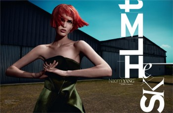 Kristina Salinovic is Cutting Edge for French Revue de Modes by Naomi Yang