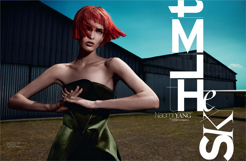 sky is the limit1 Kristina Salinovic is Cutting Edge for French Revue de Modes by Naomi Yang