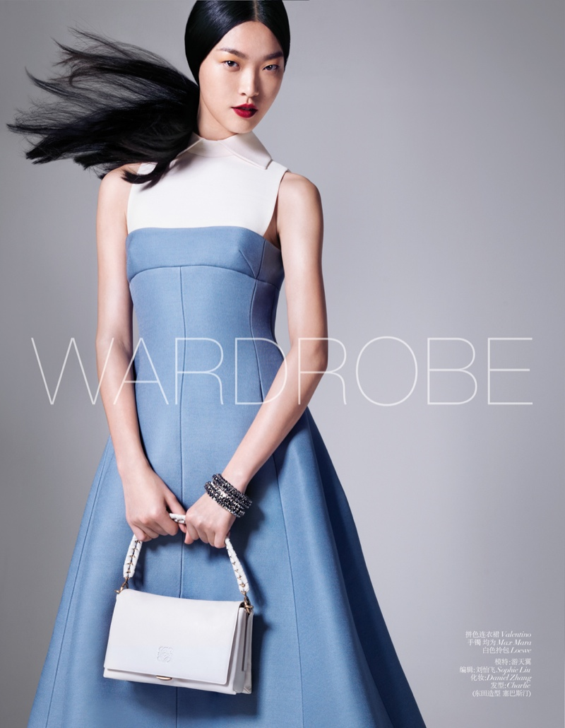 tian yi model1 Tian Yi Wears New Season Fashions for Vogue China by Stockton Johnson