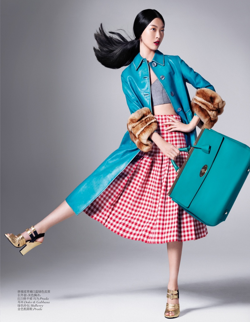 tian yi model5 Tian Yi Wears New Season Fashions for Vogue China by Stockton Johnson