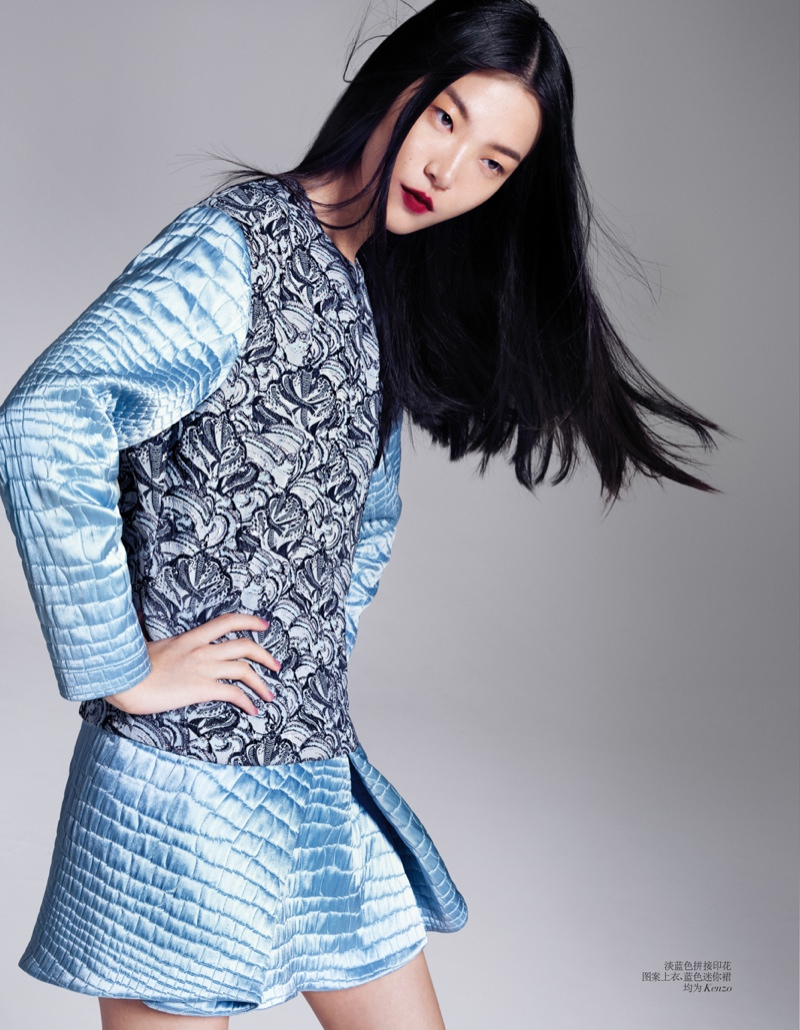 tian yi model7 Tian Yi Wears New Season Fashions for Vogue China by Stockton Johnson