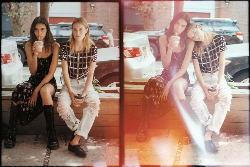 tyrone lebon urban outfitters14 Camille Rowe, Anna Speckhart + More Pose in NYC for Urban Outfitters Shoot
