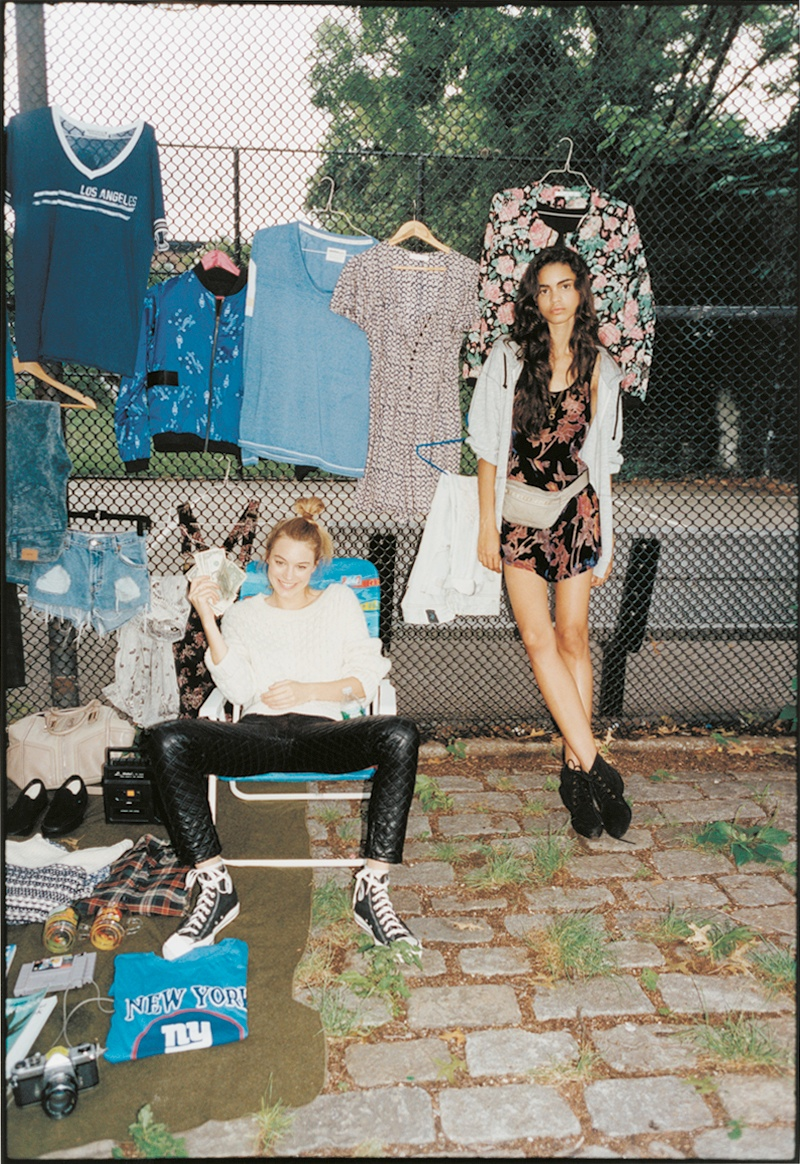 tyrone lebon urban outfitters2 Camille Rowe, Anna Speckhart + More Pose in NYC for Urban Outfitters Shoot