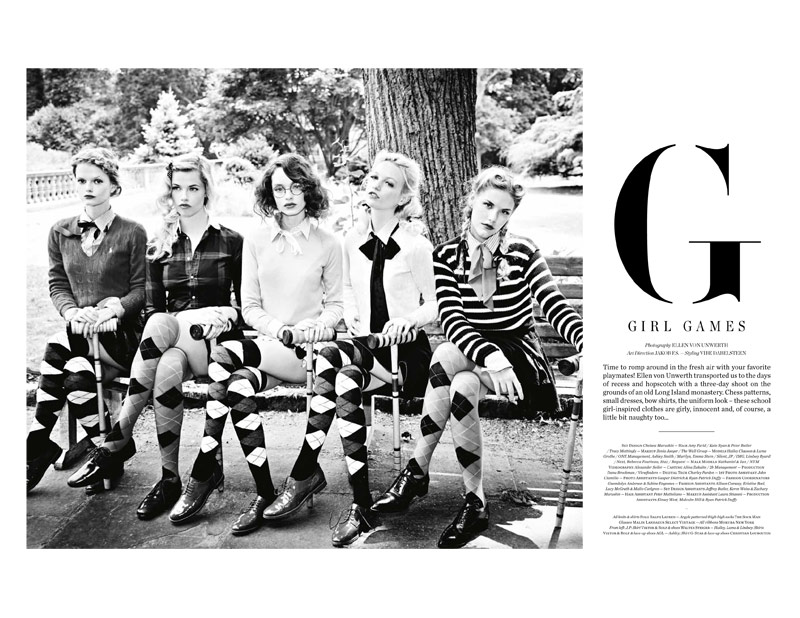 Ellen von Unwerth Takes Us Back to School for Vs. Magazine Shoot