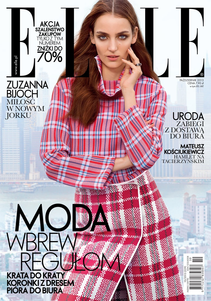 zuzanna elle shoot10 Zuzanna Bijoch Poses for Elle Poland October 2013 by Kevin Sinclair