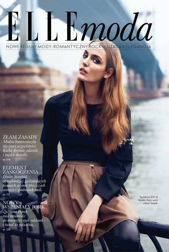 zuzanna elle shoot9 Zuzanna Bijoch Poses for Elle Poland October 2013 by Kevin Sinclair