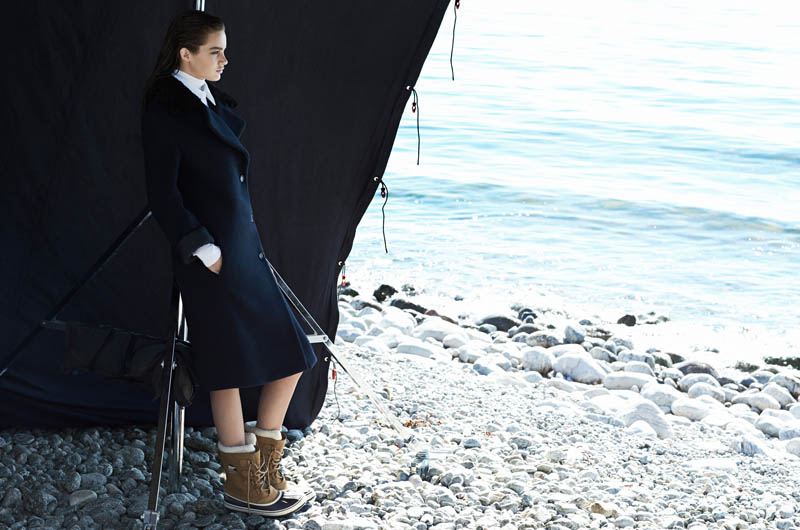 Signe Belfiore Poses on the Seashore for Mytheresa.com Shoot