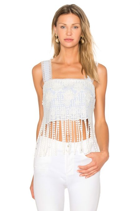 Alexis Alro Crop Top with Fringe $385