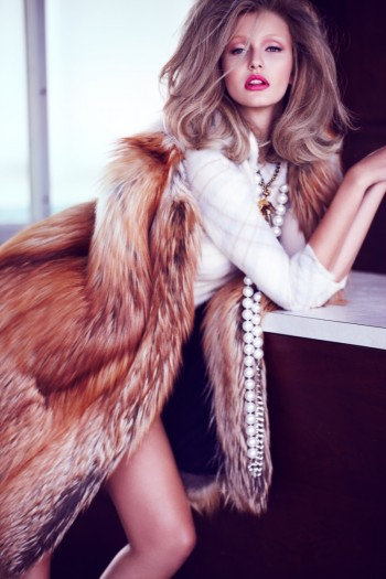 Kristina Romanova Gets Glam for Diego Uchitel in Vogue Mexico