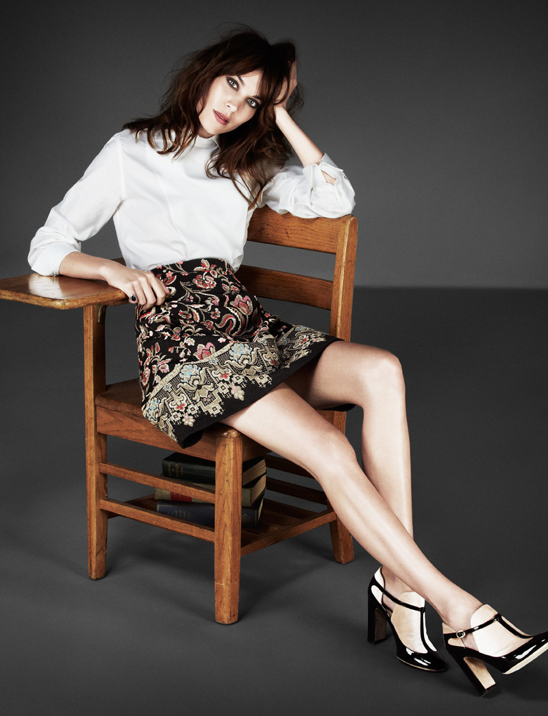 FLARE ALEXA CHUNG 03 Alexa Chung Gets Glam for Jason Kim in Flares November Issue