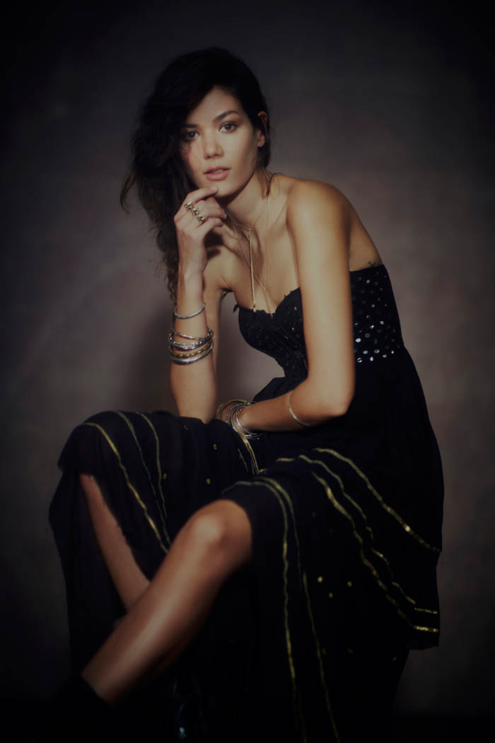 Alyssa Miller, Sheila Marquez + Dorothea Barth Jorgensen for Free People's Holiday Limited Edition Collection