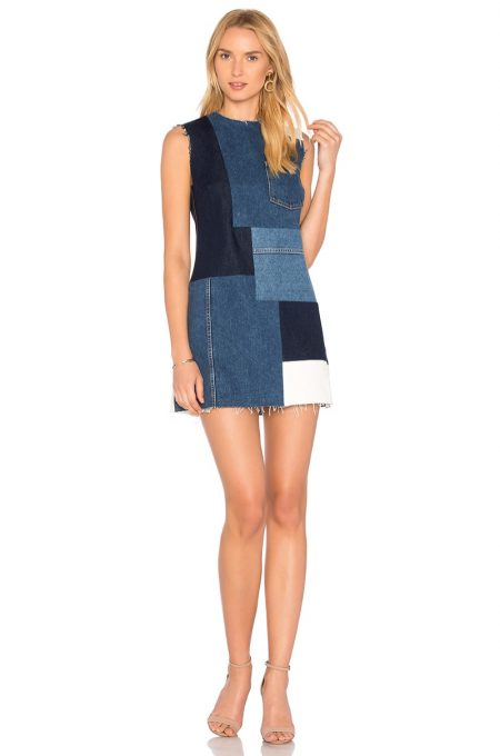 GRLFRND Heidi Denim Shift Dress $288