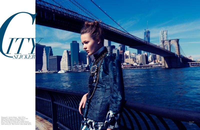 Kristina Romanova1 Kristina Romanova is a City Girl for Stockton Johnson in Modern Media