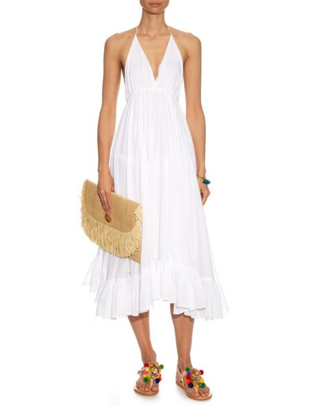 Loup Charmant White Halterneck Dress $202