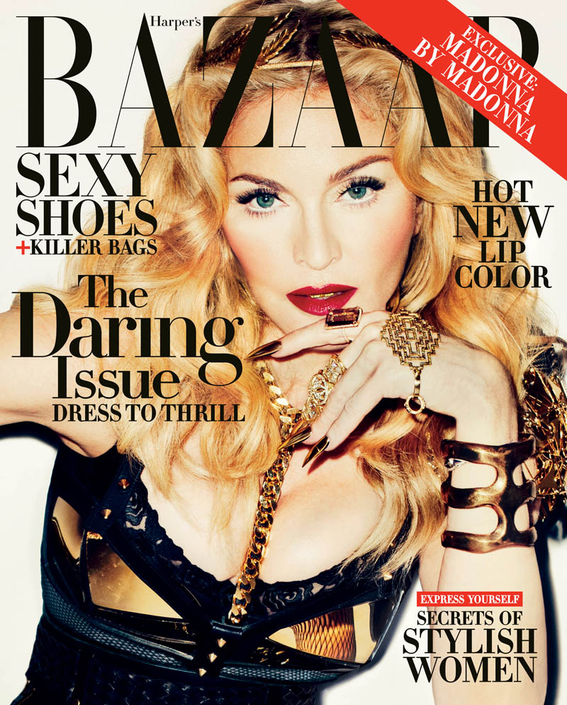 Madonna NS Cover Madonna Covers Harpers Bazaar November 2013 by Terry Richardson
