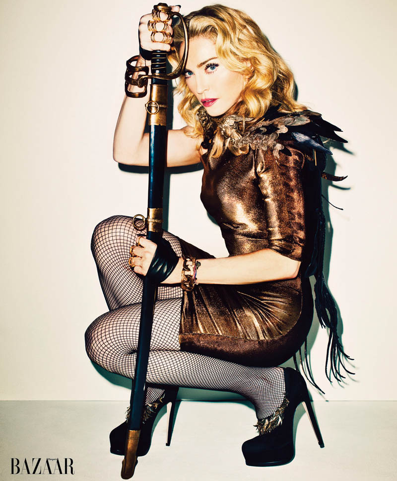 Madonna1 Madonna Covers Harpers Bazaar November 2013 by Terry Richardson