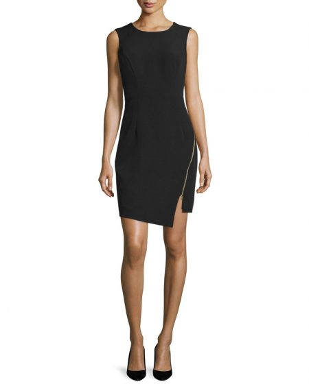 Milly Sleeveless Split-Hem Sheath Dress $375