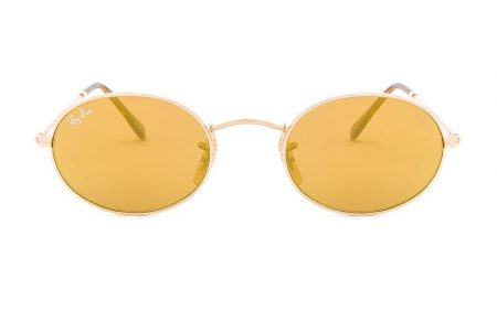 Ray-Ban Oval Flat Sunglasses $178