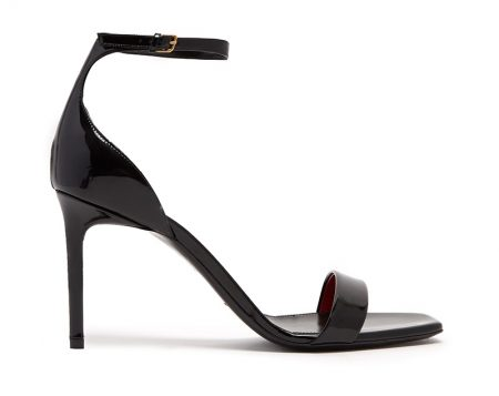 Saint Laurent Amber Patent-Leather Sandals $695