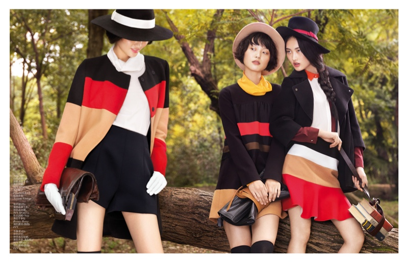 StocktonJohnson VogueChina Nov2013 NewPlay 3 Jing Wen, Xu Chao + Liu Xu Get Playful for Vogue China by Stockton Johnson