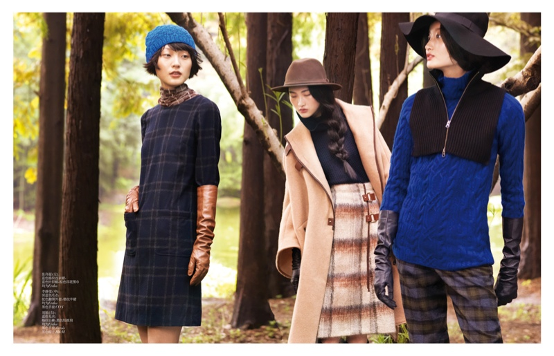 StocktonJohnson VogueChina Nov2013 NewPlay 6 Jing Wen, Xu Chao + Liu Xu Get Playful for Vogue China by Stockton Johnson