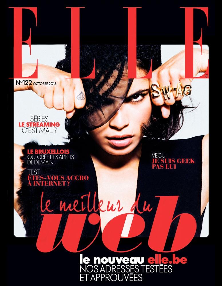 Yana Bovenistier1 Yana Bovenistier Smolders for Hicham Riad in Elle Belgium October 2013