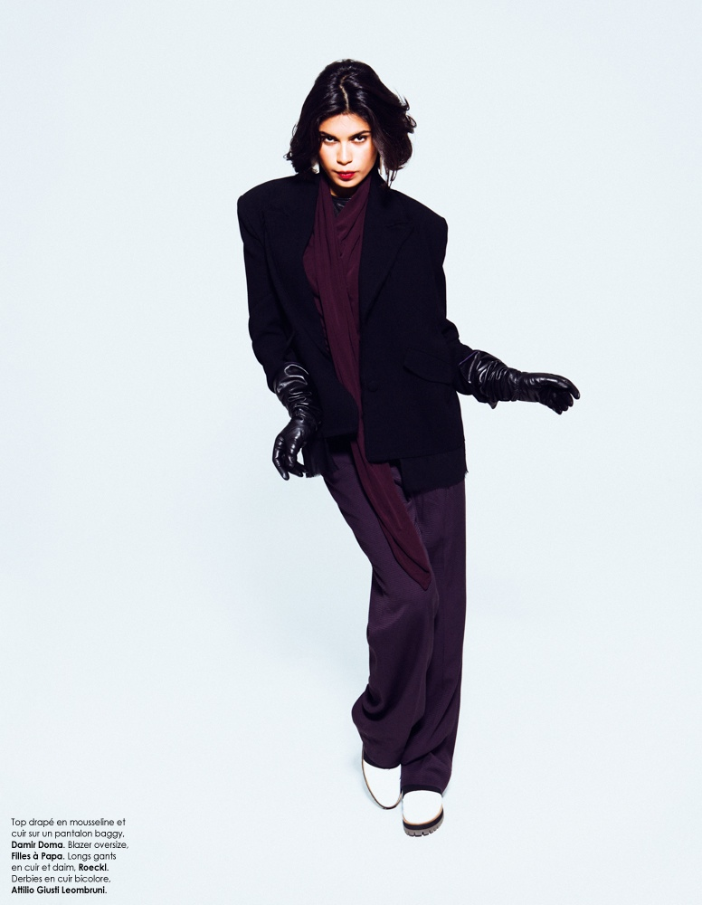Yana Bovenistier Smolders for Hicham Riad in Elle Belgium October 2013