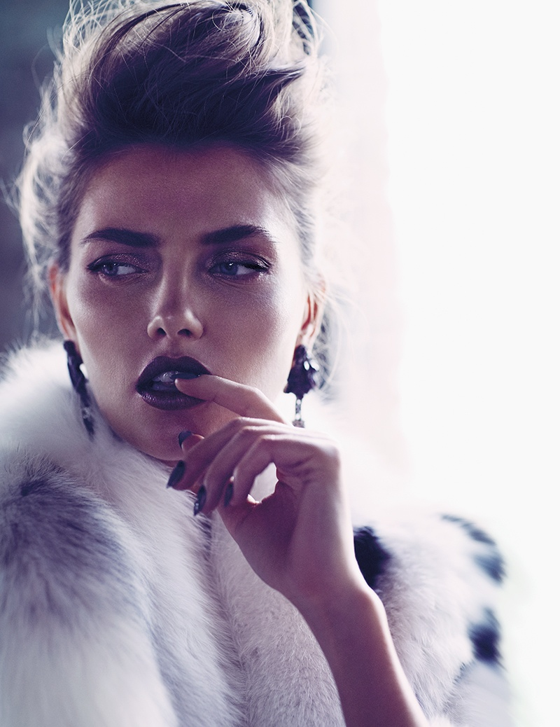 alina baikova model3 Alina Baikova is Fashionable in Fur for Fashion Shoot by Chris Nicholls