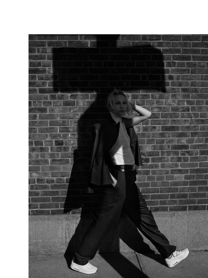 Aline Weber Poses in Brooklyn for Annemarieke van Drimmelen in Rika Magazine