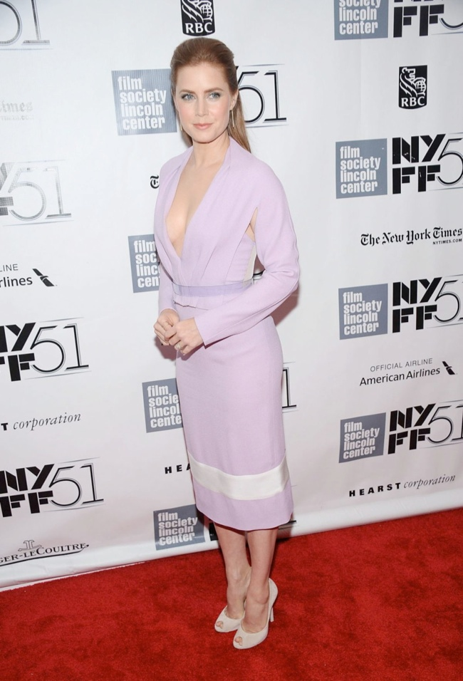 amy adams1 Amy Adams in Prabal Gurung at the NYFF Presentation of Her