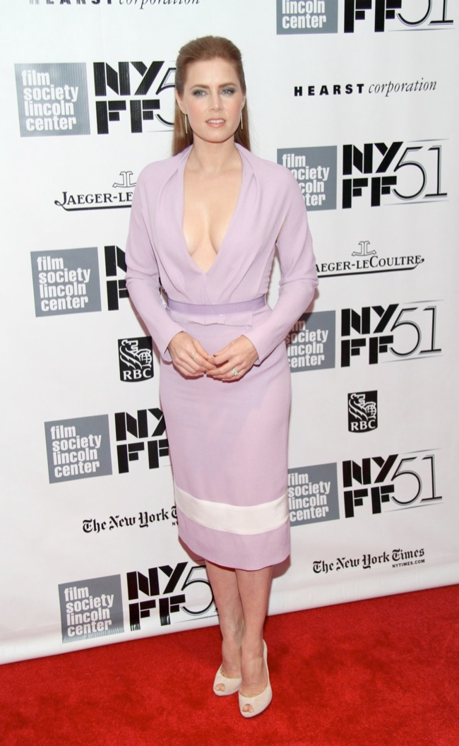 amy adams2 Amy Adams in Prabal Gurung at the NYFF Presentation of Her